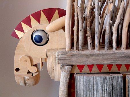 Trojan, Trojananisches Horse, Craft, Wood, Machines