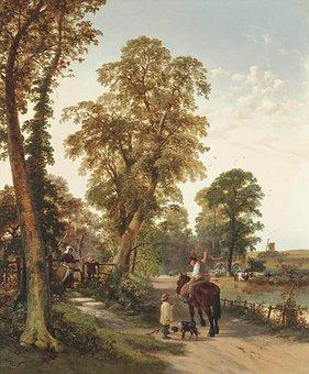 Thomas Creswick, Painting, Art, Artistic, Artistry