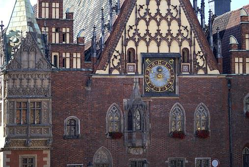Clock, Wall Clock, Time, The Town Hall
