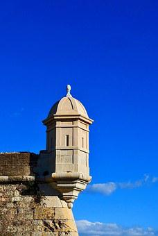 Turret, Fortification, Window, Fortress, Stone, Defense