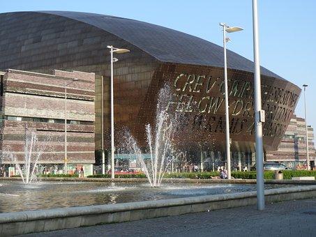 Cardiff, Center, Music, Modern, Icon