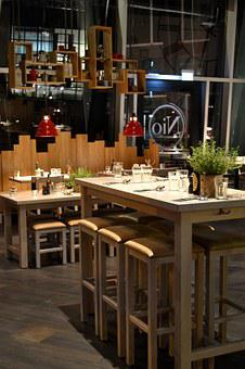 Restaurant, Interior, Design, High Table, Wood