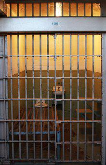 Jail, Cell, Alcatraz Prison, Bars, Behind Bars