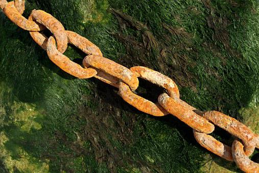 Rusty, Chain, Link, Iron, Steel, Old, Corrosion, Marine