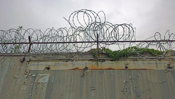 Razor Wire, Prison, Fence, Wire, Razor, Barbed