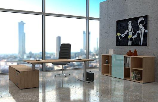 Office, Skyscraper, View, 3d Render, Blender