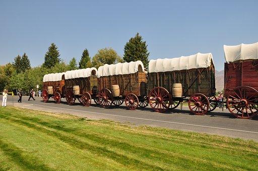 Wagons, Sun Valley, Old Wagon Wheel, Cowboy, Western
