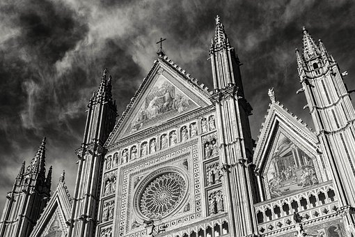 Faith, Religion, Church, Catholic, Dom, Black And White