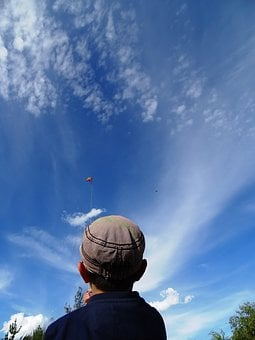 Kite, Child, Height, Game, Childhood, Sky, Cloud