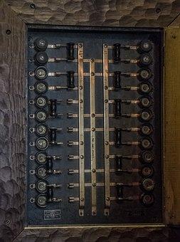 Circuit Breaker, Steampunk, Old, Electric, Metal