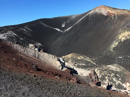 Volcanic Mountain, Volcano Ash, Nature, Crater