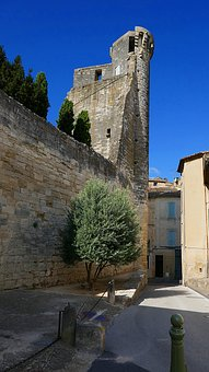 Tower, Duchy Palace, Uzes, France, Medieval, Gard