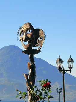 Guatemala, Atitlan, Totem, Decoration Volcano