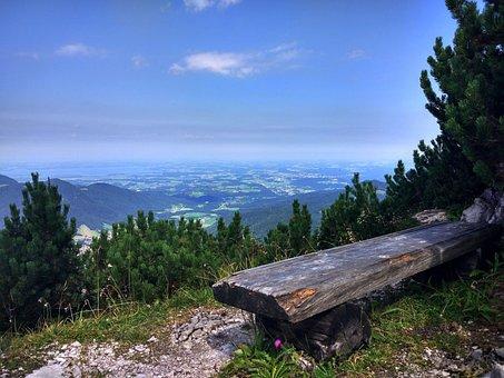 Mountains, Height, Bench, Nature, Landscape, Dahl