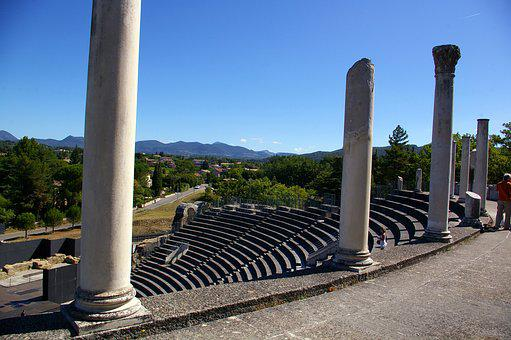Theatre, Vaison-la-romaine, Vaucluse, Bench, Show