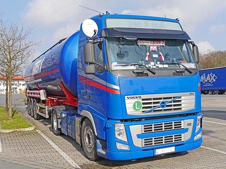 Tank Truck, Truck, Tractor, Raststätte, Semi Trailers