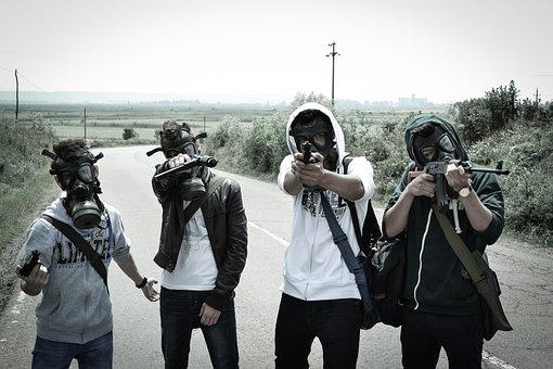 Young People, Post Apocalyptic, Gas Mask, Armageddon