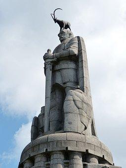 Hamburg, Monument, Sculpture, Historically, Statue