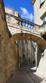 Arch, Lane, Uzes, France, Medieval, Street, Gard