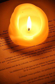Candle, Glow, Flame, Writing, Text, Word, Read