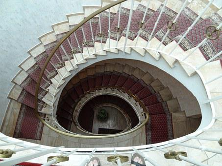 Spiral, Staircase, Lobby, Regal, Architecture, Stairs