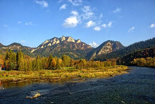 Pieniny, Dunajec, The Three Crowns, Autumn Leaves