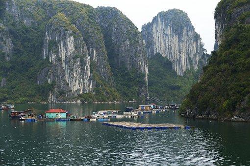 Vietnam, Halong, World Natural Heritage, Ship, Sea