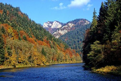 Pieniny, Dunajec, The Three Crowns, Autumn Leaves
