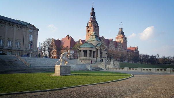 Szczecin, City, Monument, Architecture, Monuments