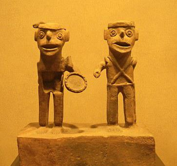 Figurines, Clay, Ancient, Mexico, Aztec, Indian