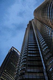 Hochaus, Twilight, Economy, Petronas, City, Citylights