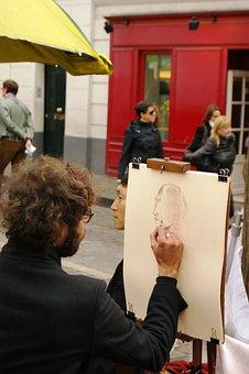 Paris, Mound, Montmartre, Designer, Portrait