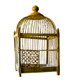 Cage, Gold, Gilded, Png, Isolated, Old, Nostalgia
