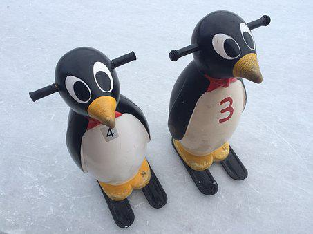 Penguin, Ice Skating, Twins