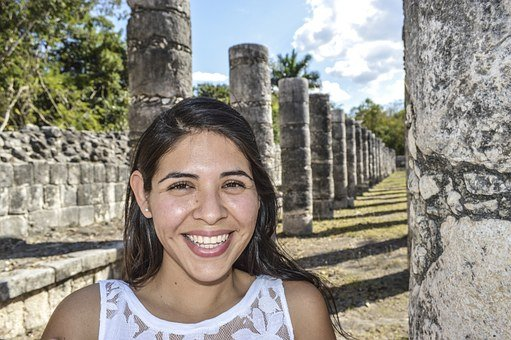 Women, Mexico, Chichen Itza, Yucatan, Pyramids, Maya
