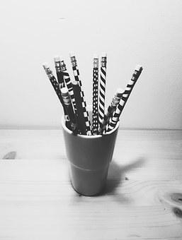 Office, White, Work Desk, Office Supplies, Pencil