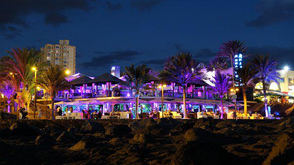 Beach Bar, Tenerife, Miami, Night