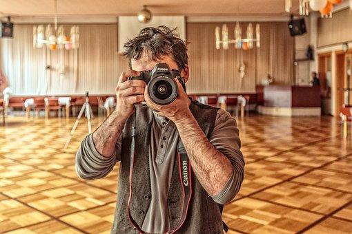 Photographer, Camera, Photograph, Lens, Recording