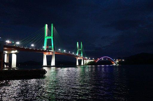 Republic Of Korea, Sacheon, Samcheonpo Bridge
