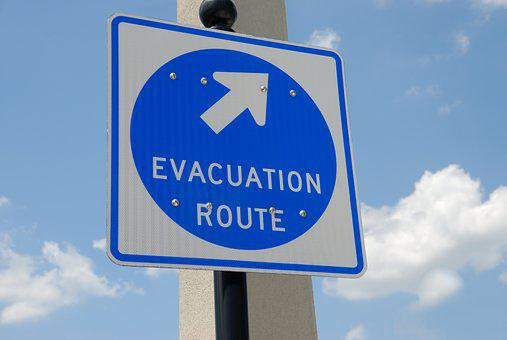 Evacuation Sign, Signage, Safety, Emergency, Direction