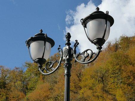 Autumn, Lamp, Streetlights