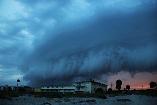 Florida, Anrollendes Storm, Rain Cloud, Most Beach