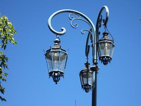 Lantern, Light, Sky, Lamp, Iron, Lanterns