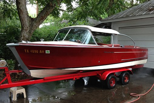 Vintage, Wooden Boat, Century, Ski Boat, Fast, Speed