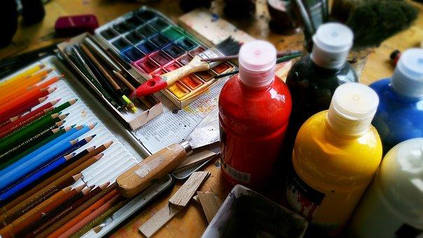 Painting, Draw, Pencils, Pens, Watercolour, Paint
