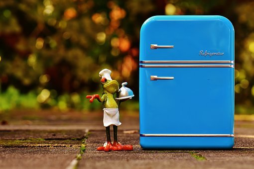 Frog, Cooking, Refrigerator, Blue, Fig, Funny, Frogs