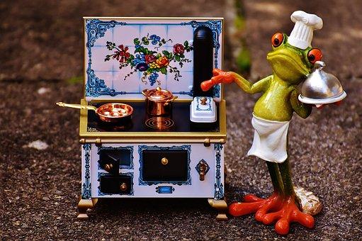 Frog, Cooking, Stove, Pan, Pot, Eat, Kitchen, Gourmet