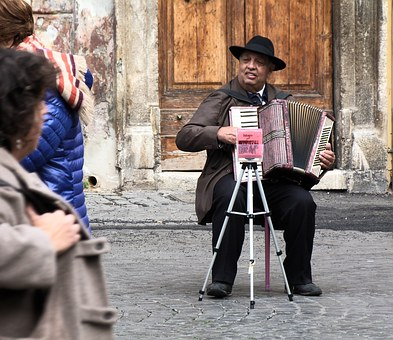 Rome, Street Musician, Italy, Holiday, Buskers, Avert