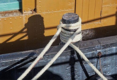 Moor, Mooring, Ship, Boat, Rope, Bollard, Warp, Moored