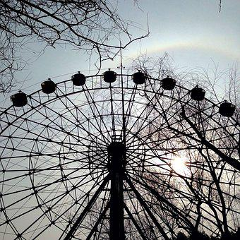 The Ferris Wheel, Sunset, Halo, Rainbow, Shanghai Zoo